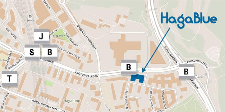 Karta Bromma Arlanda.Kommunikation Hagablue